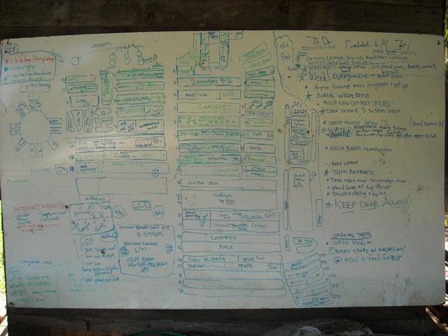 Garden map from 2008