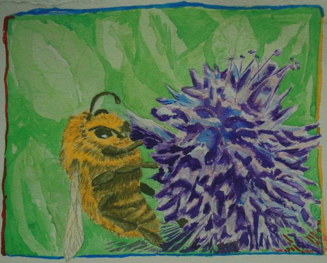 Bonsai bee painting