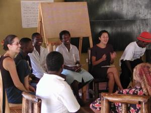 Morning circle at Kufunda Learning Village in Zimbabwe