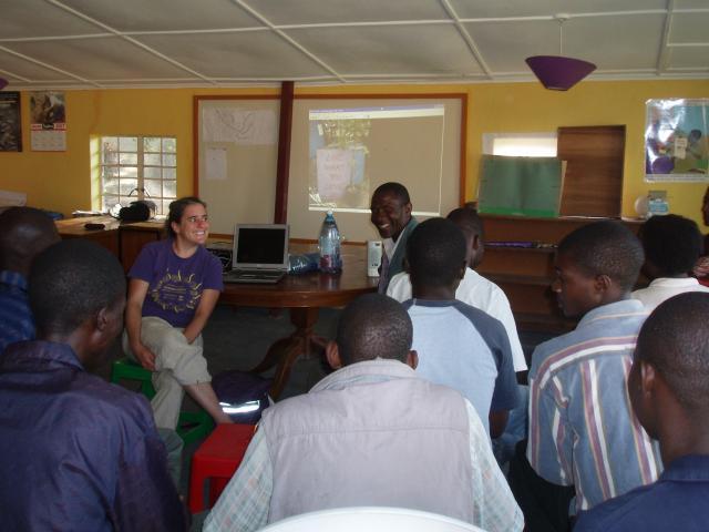 Global allies: Jenny building links between TLC Farm and Kufunda