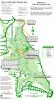 Walking map through Tryon Park